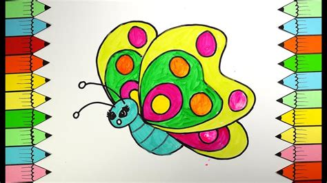 butterfly colors butterfly coloring book how to draw rainbow butterfly