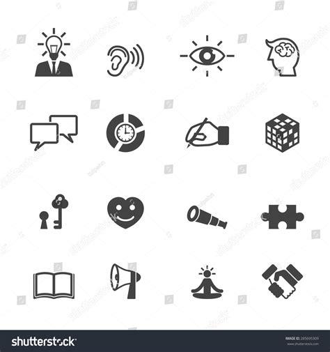 symbol for skill icons mono vector symbols stock vector 285695309