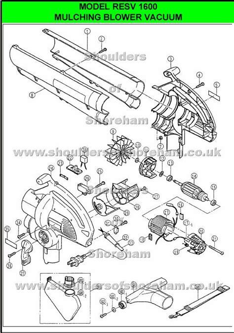 ryobi blower parts diagram ryobi resv 1600 spare parts diagrams ryobi blower vac