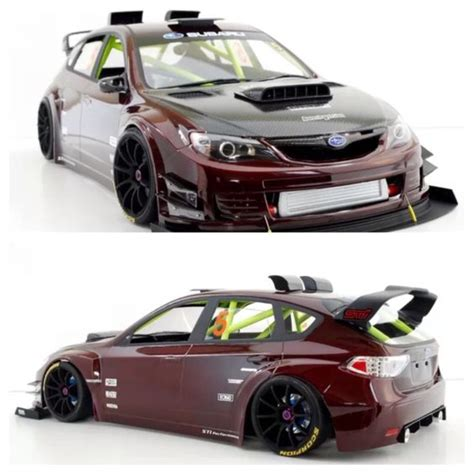 subaru wrx drift rc drift car subaru impreza sti body rc on road