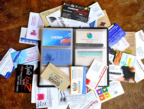 Business Card Collector how to collect business cards 10 steps with pictures