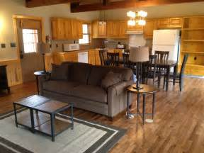 Log Cabin Kitchens Small lake fort smith state park cabin great room travel