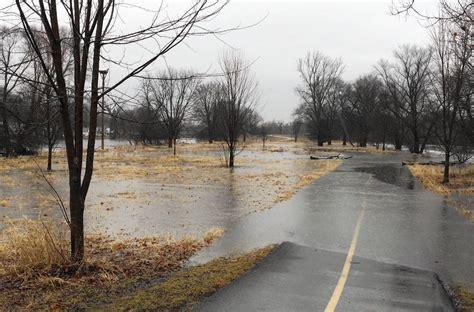 abn rain rain and melting snow lead to flooding worries in fox