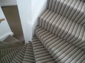 Stairs Striped Carpet by Striped Stairs Contrast Plain Landing Clapham