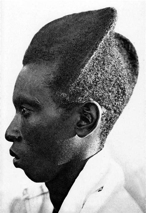 Fotos de quase 100 anos mostram o amasunzu, um penteado