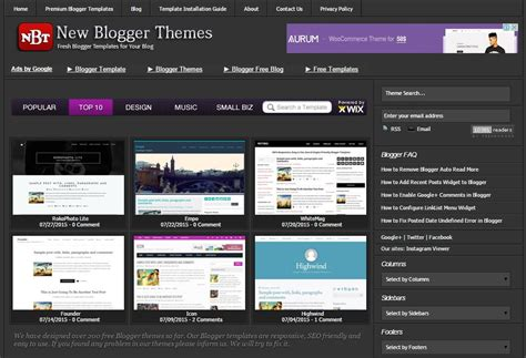 new blogger themes professional blogspot templates