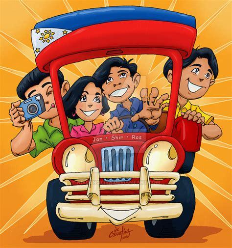 jeepney cartoon the janshirros jeepney tour by nikgenotiva on deviantart