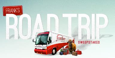 Frontier Sweepstakes - the frontier communications frank s road trip sweepstakes win a 3 500