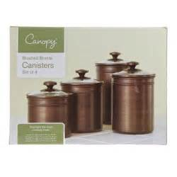Bronze Kitchen Canisters by 4 Brushed Bronze Kitchen Canisters Seal Tight Lids 4 Sizes