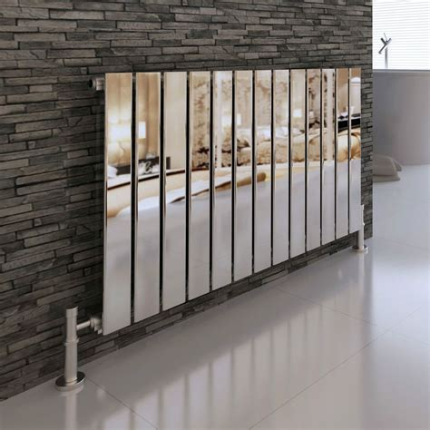 decorative radiators modern designer chrome flat panel horizontal radiator