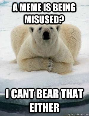 Polar Bear Meme - polar bear funny memes