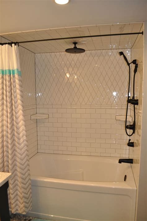 White Grout In Shower by White Subway Tile Shower With Grey Grout Black Kingsley