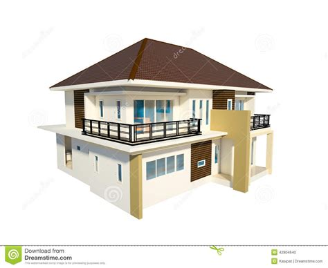 isolated house house isolated stock illustration image 42804640