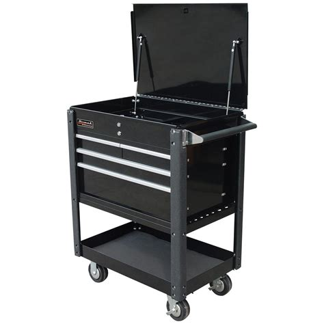 4 Drawer Tool Cart by Homak 174 Se Series 35 Quot 4 Drawer Service Cart Black 141656