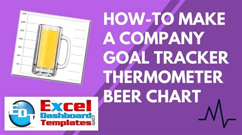 How To Make An Excel Company Goal Tracker Thermometer B Doovi Goal Thermometer Template Excel