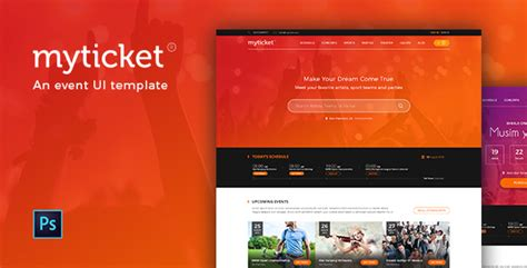 html5 sle template myticket event ticket reservation html5 template by