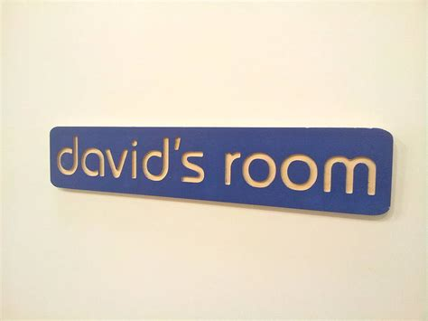 personalised name plaque room sign by soap designs