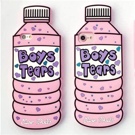 boys tears cute bottle  iphone  case soft silicon
