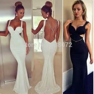 free shipping vestidos sin espalda 2015 black white