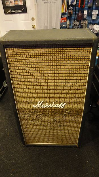 How To Re Tolex A Cabinet by Marshall 810 Cabinet 70 S Black Tolex Grill Cloth Reverb