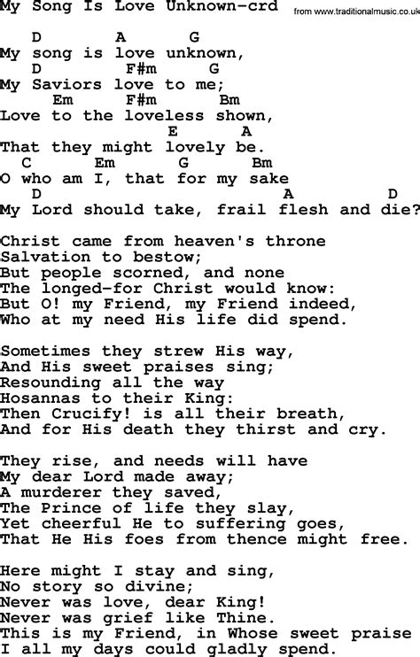 unknown lyrics top 500 hymn my song is unknown lyrics chords and pdf