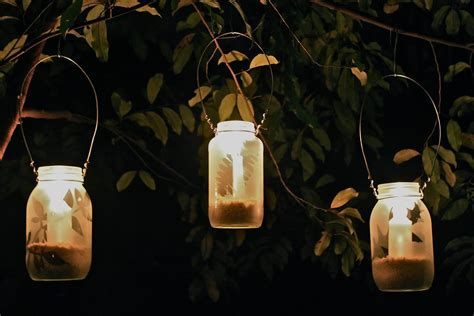 tree lantern lights diy frosted garden lanterns house in the suburbs