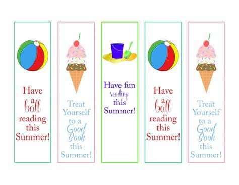 Printable Summer Reading Bookmarks | 6 best images of free summer bookmark printables free