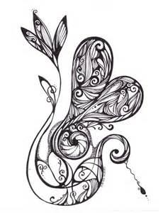 love flower by kekiero on deviantart zentangle time