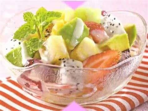 cara membuat salad buah yogurth saus mayonaise youtube salad buah mayonnaise images