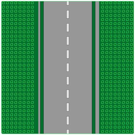 lego printable road pdf bricker part lego 610p01 baseplate road 32 x 32 8