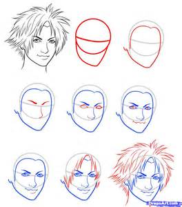 how to draw tidus final fantasy tidus step by step