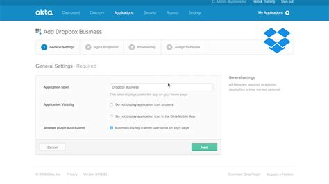 dropbox business support okta integration dropbox business
