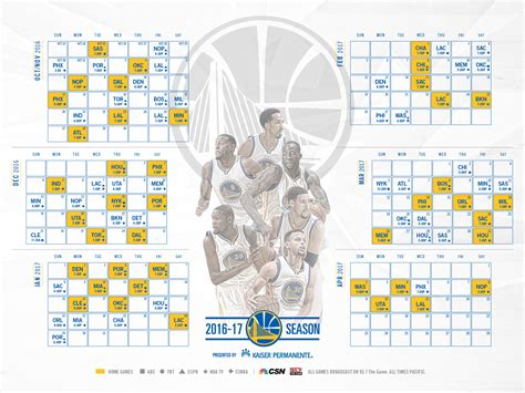 Mba Schedule by Golden State Warriors Announce Schedule For 2016 17 Season