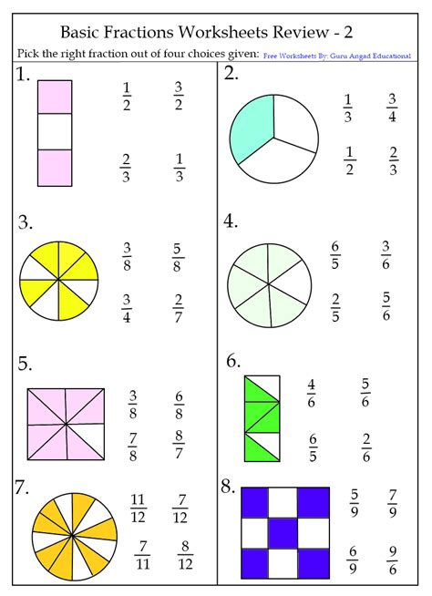 3rd Grade Fractions Worksheets by Basic Fractions Worksheets Steemit