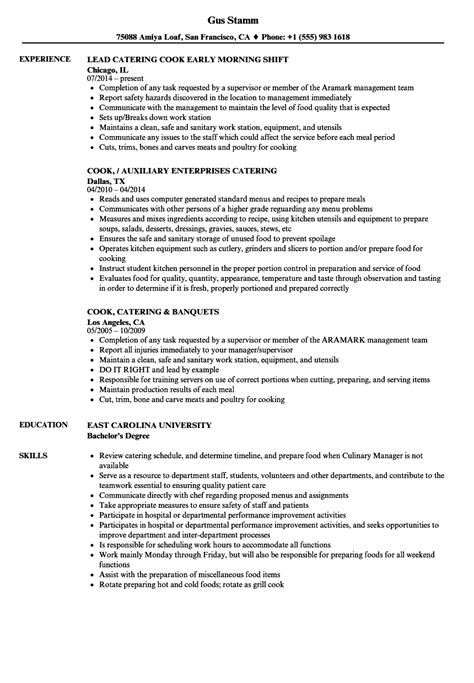 sample resume cook assistant cook resume sample entry level food