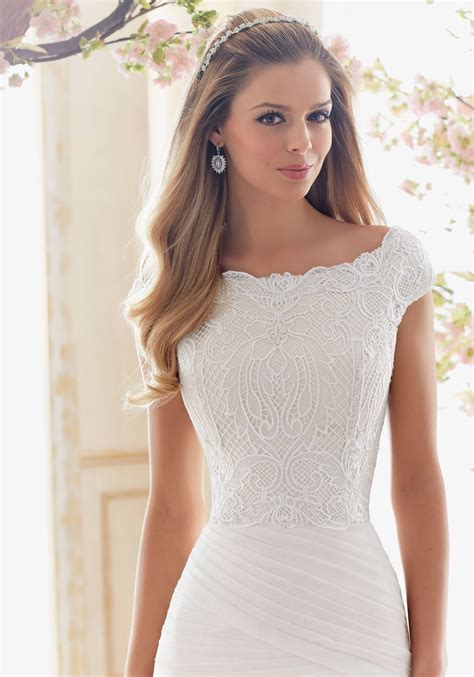 Vintage Lace Cropped Wedding Dress Top   Style 6839   Morilee