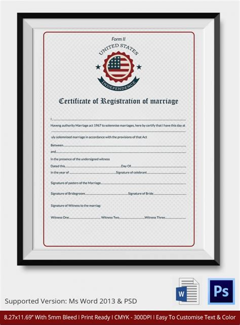license certificate template sle marriage certificate template 18 documents in