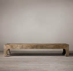 Restoration Hardware Reclaimed Wood Coffee Table Reclaimed Elm Coffee Table I Restoration Hardware