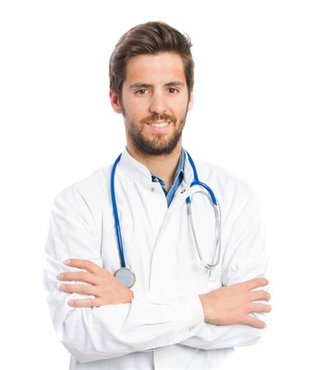 doctor and doctor smiling with stethoscope photo free