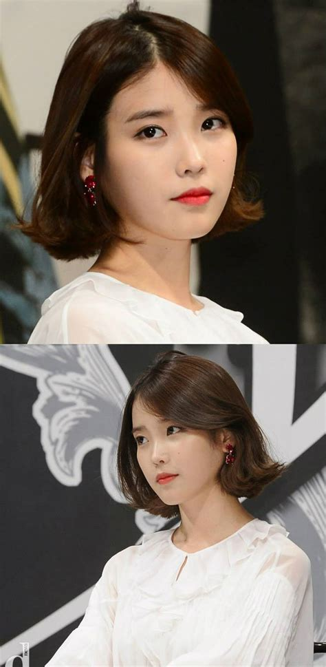 kpop 2015 hairstyles iu kpop bobbed hair haircut hairstyle pinterest