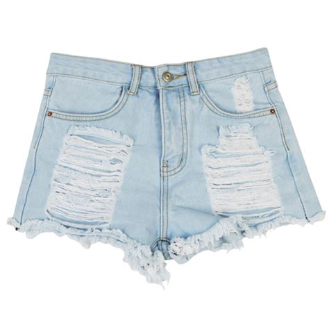 2015 colored denim out of style promotion 2015 women shorts fashion distrressed light