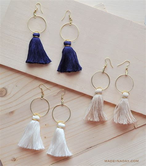 how to make tassels for jewelry diy hoop tassel earrings made in a day