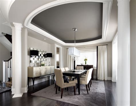 modern dining room ideas painting a coffered ceiling