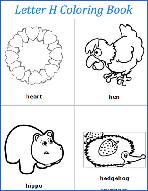 That Start With The Letter H by Best Photos Of Preschool Letter H Letter H Worksheets