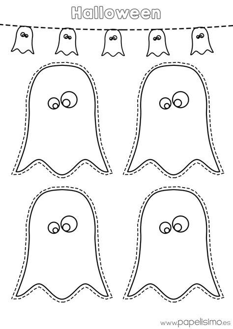 imagenes para colorear y recortar dibujos de fantasmas halloween para imprimir papelisimo