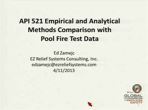 Pdf Miracle Method Relieve Included by Api Standard 521 New Alternative Method To Evaluate