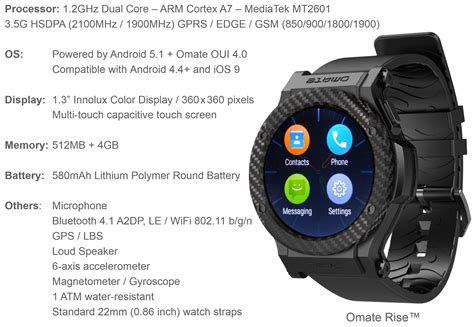 Omate launches a 48 hour sale for their latest 3G capable full Android 5.1 OS smartwatch