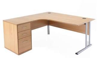 Ergonomical Desk by Left Ergonomic Office Desk 3 Drawer Pedestal Bundle
