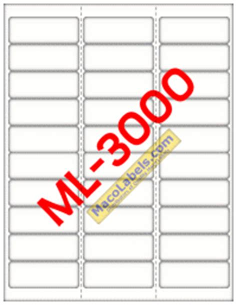 Maco Ml 3000 Ml 3000 Ml3000 Laser Labels Inkjet Labels Address Labels Ml 3000 Label Template