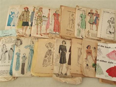 vintage pattern lot 40s 50s vintage sewing patterns lot retro dresses aprons